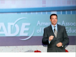 Joe Popp as Hosting AADE 2010 General Session (2)